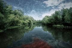 zonder titel (landschap #8) - € 400 - formaat 50x75cm
