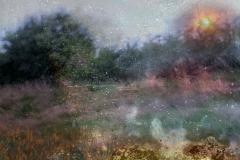 zonder titel (landschap #23) - € 400 - formaat 50x75cm